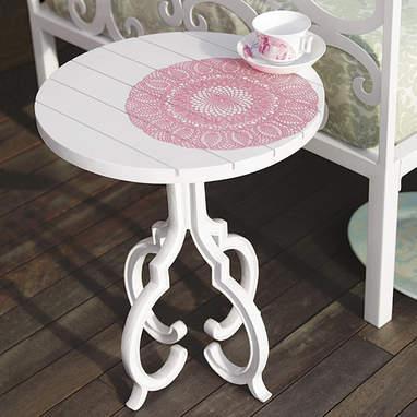 Steven Alan Papier Mache White Side Table
