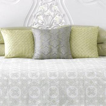 bed+bath: medallion print duvet, celadon at brocadehome.com