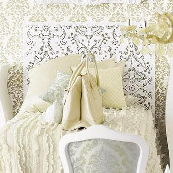 furniture: lace pattern headboard at brocadehome.com