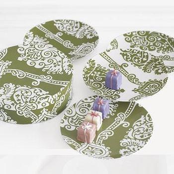 sale: trellis pattern plate set, leaf at brocadehome.com