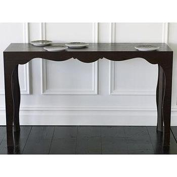 furniture: silhouette console table, coffee at brocadehome.com