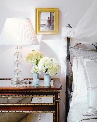 Mirror Nightstand Eclectic Bedroom Lonny Magazine