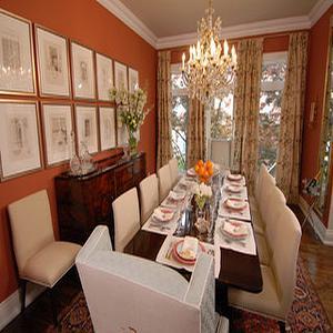 Orange Dining Room View Full Size