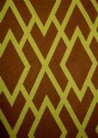 Brown Zebra Pattern Linen Fabric