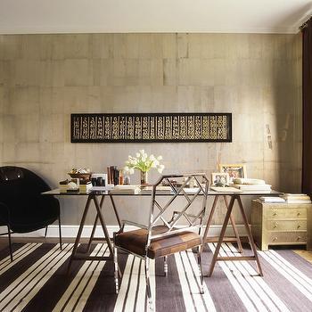 Sawhorse Desk, Eclectic, den/library/office, Nate Berkus Design
