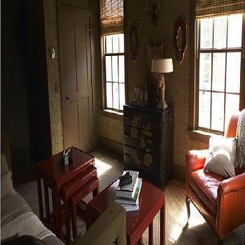 Red Nesting Tables, Asian, living room, Kohler