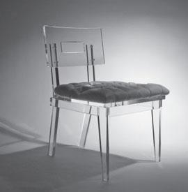 acrylic office chair. acrylic gray tufted cushion chair office