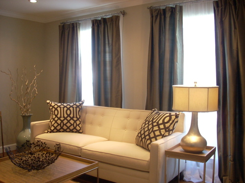 Gold Curtains Eclectic Living Room My Home Ideas