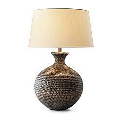 Charming Brown Hammered Table Lamp View Full Size