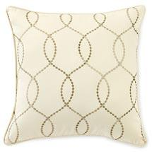 Walmart.com: Canopy Embroidered Wave Pillow, Stone Beige : Bedding