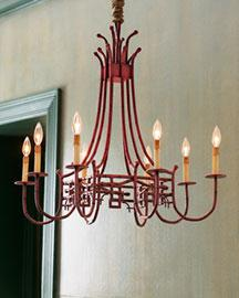 Red metal pagoda chandelier aloadofball