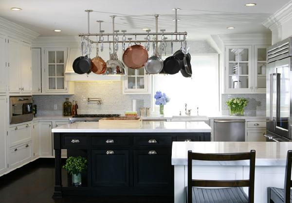 Black and White Kitchen - Transitional - kitchen - Nathan Egan