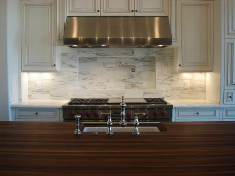 Modern Kitchen Marble Backsplash butcher block countertops design ideas