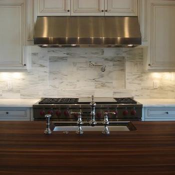 Walnut Butcher Block Countertop, Traditional, kitchen, Andrea Schroder Designs