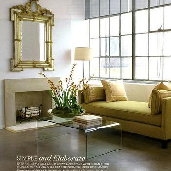 Yellow Settee, Transitional, living room, Eddie Ross