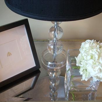 Mirrored Bedside Table, Contemporary, bedroom, Sherwin Williams Whole Wheat