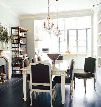 blue grey paint colors french dining room benjamin. Black Bedroom Furniture Sets. Home Design Ideas