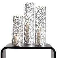 Modern Candle Holders, Twig Pillar holders, from Chiasso