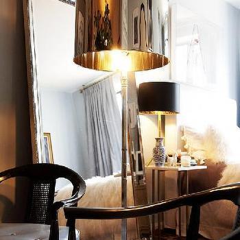 Polished Chrome Lamp, Transitional, bedroom