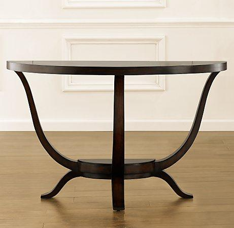 preston demi lune console table. Black Bedroom Furniture Sets. Home Design Ideas