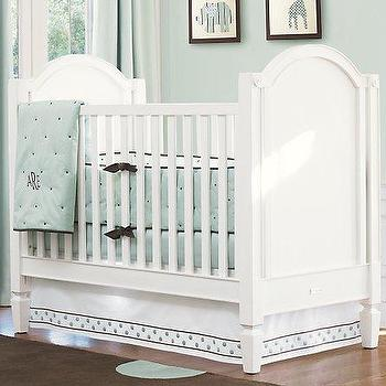 asher crib, antique white