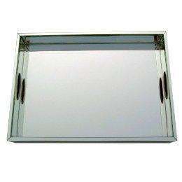 Mirrored Silver Braided Trays