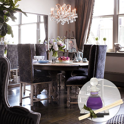 Purple velvet dining chairs design ideas for Dining room velvet chairs