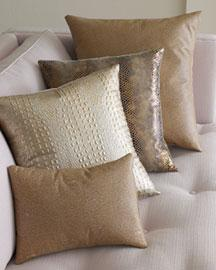 wimberly brown metallic leather pillows