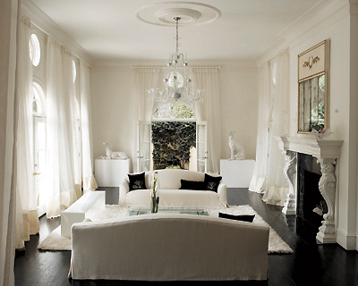 Monochromatic Living Room French Living Room Jill Vantosh