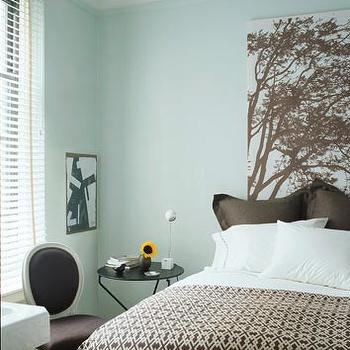 Blue Paint Color, Contemporary, bedroom, Farrow & Ball Pale Powder, Domino Magazine