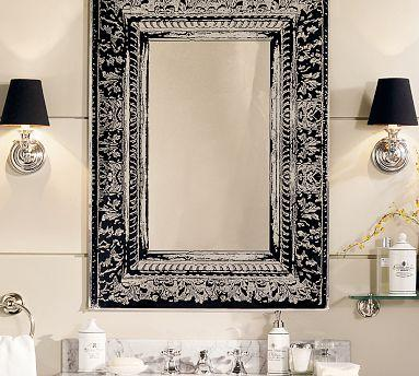 Black And White Etched Mirror