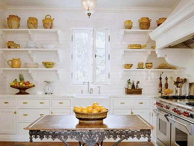 excellent white kitchen yellow accents | Yellow Accents - Vintage - kitchen