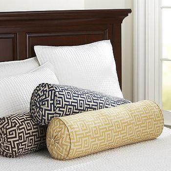 Sutter Jacquard Bolster Pillow Cover, Pottery Barn