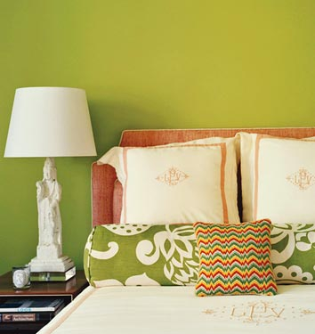 Lime Green Paint Eclectic Bedroom Benjamin Moore Pear