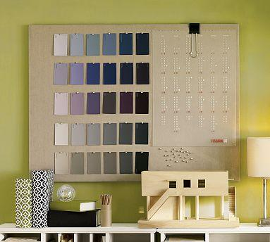 Large Natural Linen Pinboard