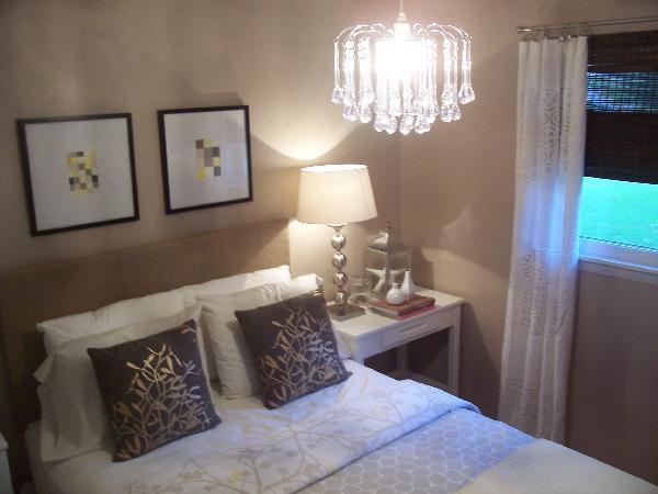 Glass Drop Chandelier , Contemporary, bedroom, Glidden Mesa Tumbleweed, Nuestra Vida Dulce