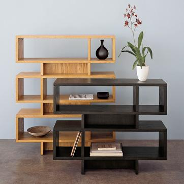 Brown And Black Stacked Modular Bookcases