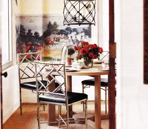Dining Table with Ghost Chairs and Black Bamboo Chairs ...
