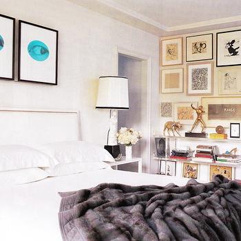 Gray Throw Blanket, Contemporary, bedroom