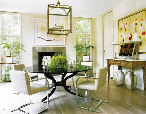Dining room - The round tables as the good dining room interior design ideas ...
