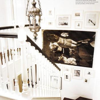 Staircase Art Wall, Transitional, entrance/foyer