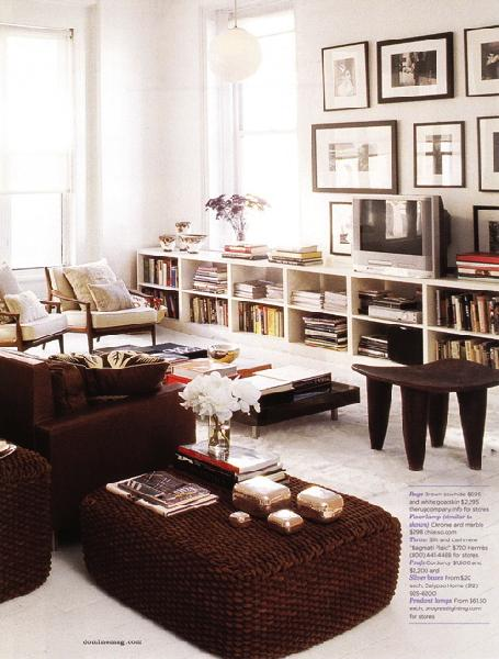 White And Brown Living Room room