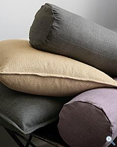 Eileen Fisher Raw Silk Pillow Cover, Garnet Hill