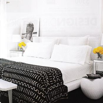 Black and White Throw Blanket, Contemporary, bedroom