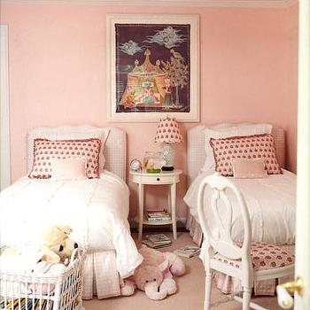 Pink Girl Room, Traditional, girl's room, Benjamin Moore Rose Petal, Domino Magazine