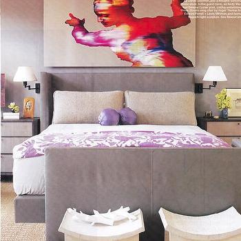 Purple Blanket, Transitional, bedroom