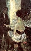 Seated Actress with Mirror Glackens, William James Wholesale Oil Painting Frame China 19060