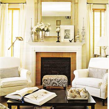 Fireplace Chairs, Cottage, living room