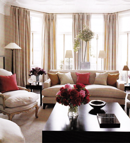 Red And Black Room Decor Ideas: Living Room
