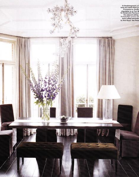 Purple tufted bench design ideas for Dining room ideas purple